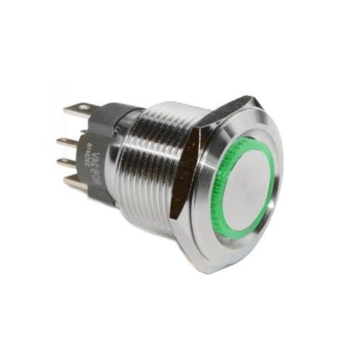 19mm rjs107 high current switch, RGB illumination, rjs electronics ltd