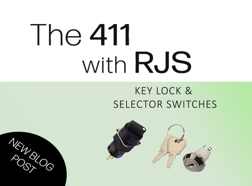 411 with RJS Electronics Ltd - Key lock and selector Switches