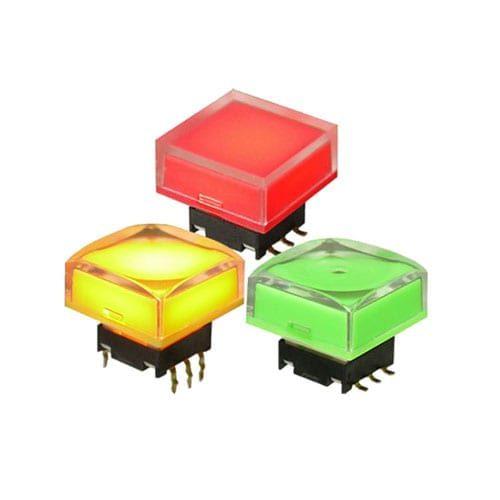 SPDG Switches, push button tactile click RGB LED illumination switches.
