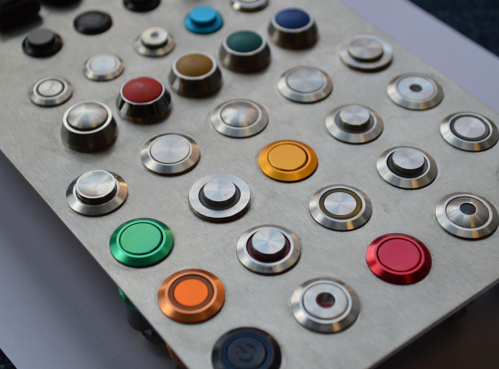 push button metal plastic LED illumination custom switch