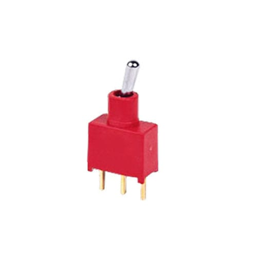 PCB, Panel mount, Toggle Switches, IP rated, without LED illumination, guards and accessories available. Miniature toggle switch, sealed waterproof toggle switch, sub-miniature toggle switches, ultraminiature toggle switches. Horizontal, right angle, vertical toggle switch. RJS Electronics Ltd.