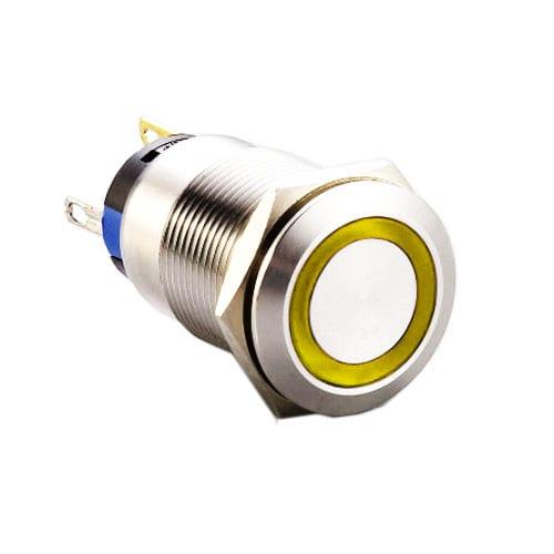 19mm metal indicator switch, with LED illumination