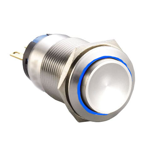 19mm push button switch, with LED illumination.