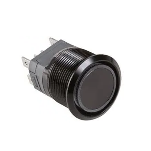 high current antivandal push button switch with led illumination, rjs electronics ltd