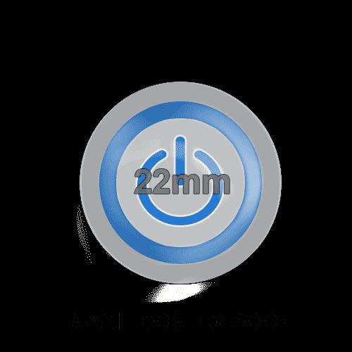 22mm push button metal switch, LED illumination.