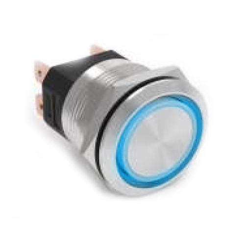 22mm metal push button with led illumination ip67 rated RJS ELECTRONICS LTD