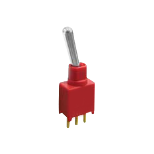 2A Series - Toggle Switches, PCB switches. M2 - SPDT - IP67 rated - PCB, Panel mount, Toggle Switches, IP rated, without LED illumination, guards and accessories available. Miniature toggle switch, sealed waterproof toggle switch, sub-miniature toggle switches, ultraminiature toggle switches. Horizontal, right angle, vertical toggle switch. RJS Electronics Ltd.