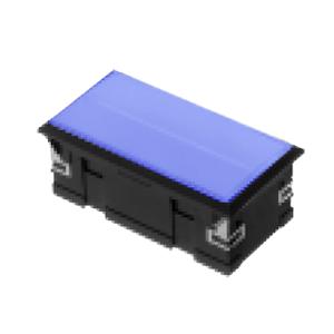 3L-illuminated LED indicator Panel mount - Rect. Connector type - Blue - RJS Electronics Ltd