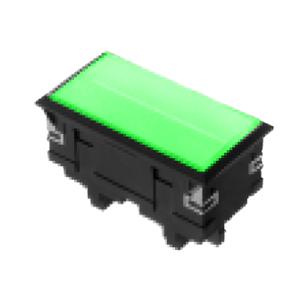 3L-illuminated LED indicator Panel mount - Rect. Screw type - Green - RJS Electronics Ltd