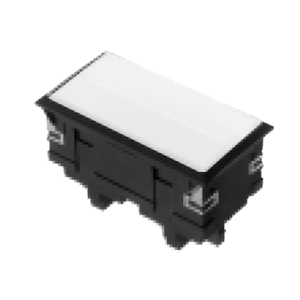 3L-illuminated LED indicator Panel mount - Rect. Screw type - White - RJS Electronics Ltd