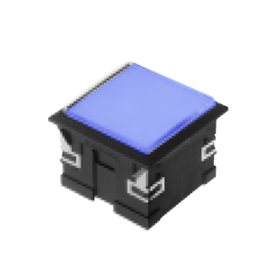 3L-illuminated LED indicator Panel mount - Sq. Connector type - Blue - RJS Electronics Ltd