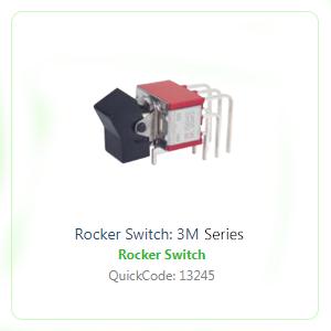 3M rocker switch - horizontal 3M rocker switch - vertical, 4A Rocker switch, Panel mount rocker switch, switch without LED illumination, round rocker switch, switch with custom etching. RJS Electronics Ltd. Rocker switch available with SPDT, DPDT, 3DPDT 4DPDT.