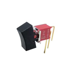 4ASeries - M7 - SPDT -Rocker Switches, Panel Mount switches. RJS Electronics Ltd. PCB, panel mount, rocker switch, switch without LED illumination, IP67 rated, right angle, horizontal rocker switch, electromechanical components. RJS Electronics Ltd.