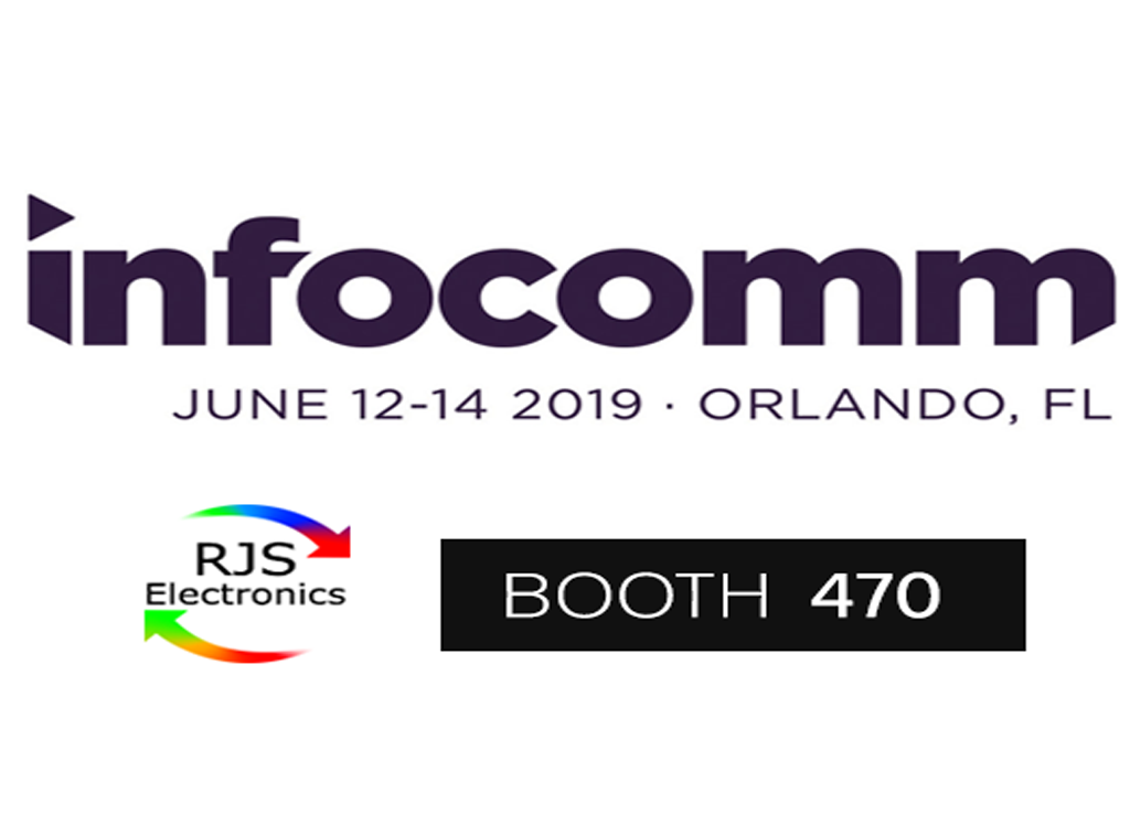 RJS Infocomm 2019 florida orlando booth 470.