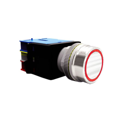 Panel Mount, Flat head Button with Ring LED. RJS Electronics Ltd.