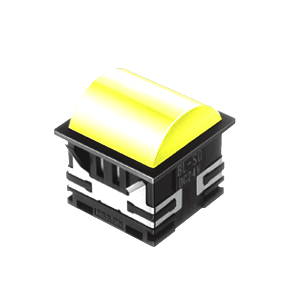 BL - 30mm - SQ - Doomed Type - LED Illumination - Yellow - RJS Electronics Ltd