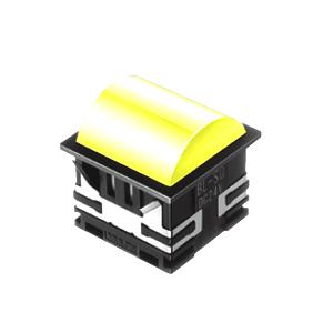 BL - 30mm - SQ - Doomed Type - LED Illumination - Yellow - RJS Electronics Ltd