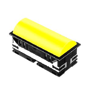 BL - 30mm - rectangular - Domed style, with LED illumination - Yellow - RJS Electronics Ltd