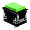 CH - Rectangular - Panel Mount Plastic Push Button - Green - RJS Electronics Ltd