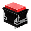 CH - Rectangular - Panel Mount, Plastic Push Button - Red - RJS Electronics Ltd