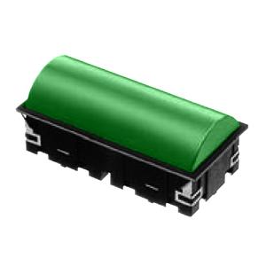 CL - Domed RECT. LED INDICATOR PANEL - 40mm X 80mm - Green - RJS Electronics Ltd.