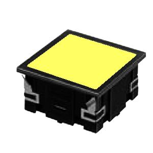 CL - FLAT SQUARE LED INDICATOR PANEL - 40MM X 40MM- YELLOW - RJS Electronics Ltd.