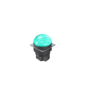 LED Indicator Panel - Domed Round Type - Green - MLC - LED Panel Indicator - RJS Electronics Ltd.