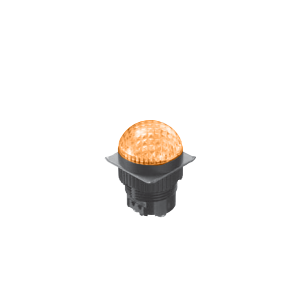 LED Indicator Panel -Domed Round Type - Yellow - MLC - LED Panel Indicator - RJS Electronics Ltd.