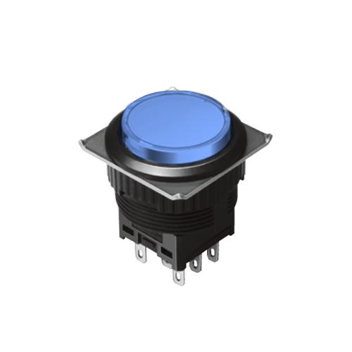 EH-G- Illuminated Push Button Switches - Round - Blue - RJS Electronics Ltd.