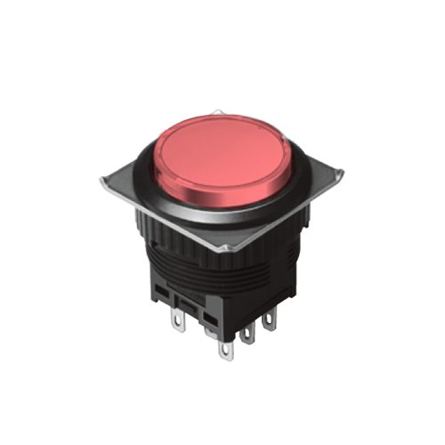 EH-G- Illuminated Push Button Switches - Round - Red - RJS Electronics Ltd.