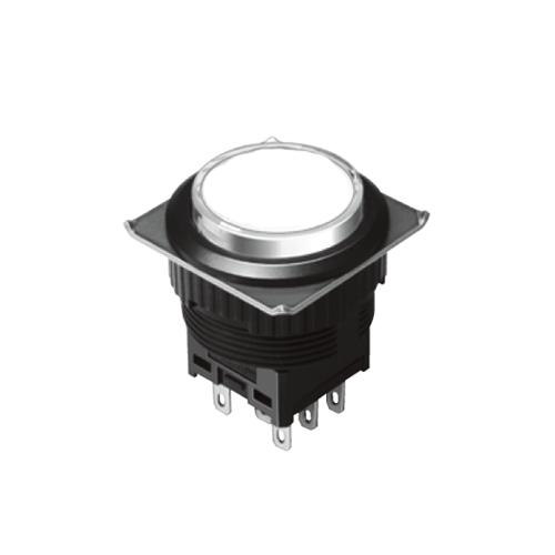 EH-G- Illuminated Push Button Switches - Round - White, Single LED illumination, Bi-colour LED Illumination, RGB Illumination, ring LED illumination, dot illumination, full illumination, split face illumination, dual illumination, RJS Electronics Ltd.