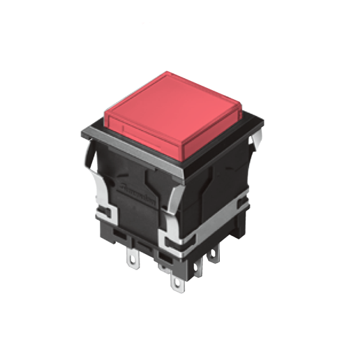 EH-G- Illuminated Push Button Switches - SQUARE - Red - RJS Electronics Ltd.