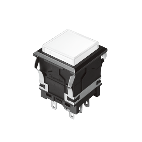 EH-G- Illuminated Push Button Switches - SQUARE - White Single LED illumination, Bi-colour LED Illumination, RGB Illumination, ring LED illumination, dot illumination, full illumination, split face illumination, dual illumination, RJS Electronics Ltd.