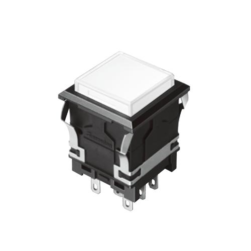 EH-G- Illuminated Push Button Switches - SQUARE - White Single LED illumination, Bi-colour LED Illumination, RGB Illumination, ring LED illumination, dot illumination, full illumination, split face illumination, dual illumination, RJS Electronics Ltd.