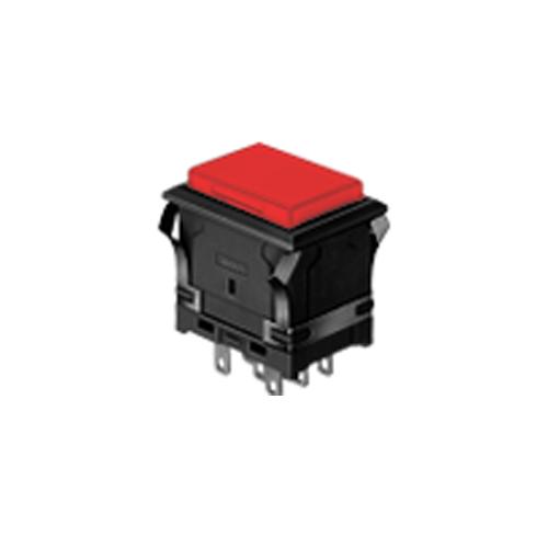 EH - Rectangular - Panel Mount, Plastic Push Button - Yellow - RJS Electronics Ltd