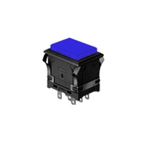 EH- Rectangular - Blue Push Button - Blue - RJS Electronics Ltd