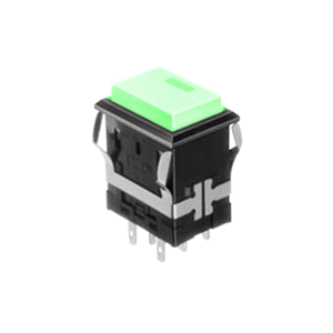 FH - Illuminated Switch - Rectangular Spot - Green LED Illumination - RJS Electronics Ltd