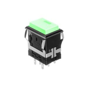 FH - Illuminated Switch - Rectangular Spot - Green LED Illumination - RJS Electronics Ltd