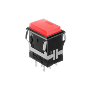 FH - Illuminated Switch - Rectangular Spot - LED Illumination - FH - Illuminated Switch - Square Spot - Red LED Illumination Momentary push button switch, momentary function, Latching push button switch, Latching function, IP rated, RJS Electronics Ltd.