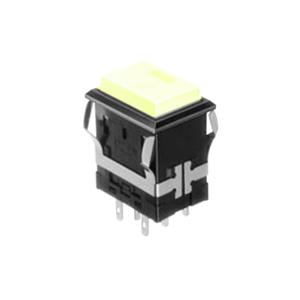 FH - Illuminated Switch - Rectangular Spot - Yellow LED Illumination - RJS Electronics Ltd