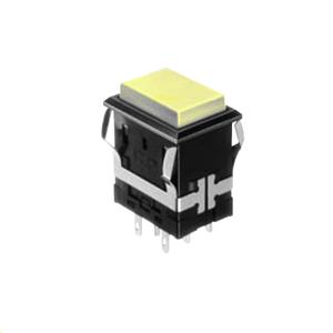 FH - Illuminated Switch - Rectangular - Yellow LED Illumination - RJS Electronics Ltd