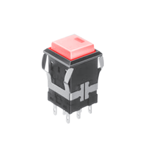 FH - Illuminated Switch - Square Spot - Red LED Illumination Momentary push button switch, momentary function, IP rated, RJS Electronics Ltd.