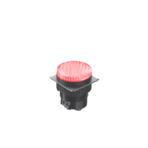 LED Indicator Panel, Flat Round Type - Red - MLC - LED Panel Indicator - RJS Electronics Ltd.