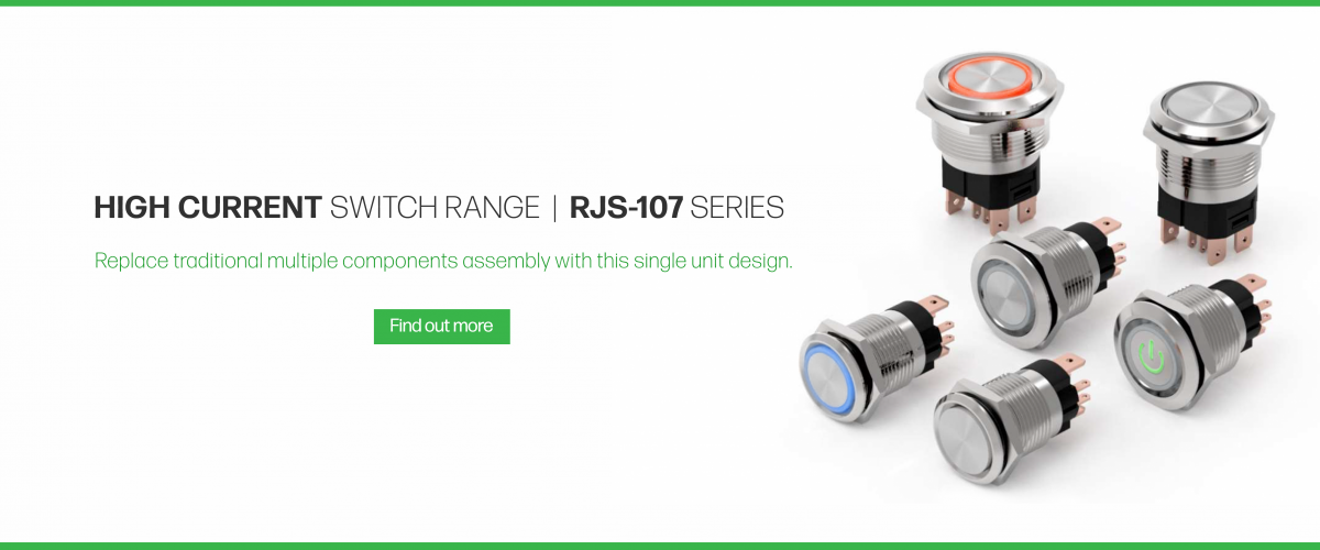 high current metal antivandal switch range available at rjs electronics ltd