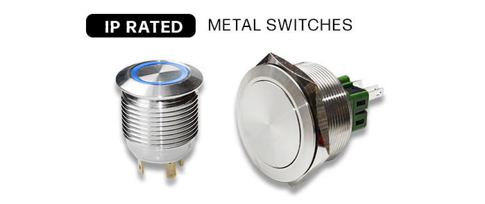 Metal anti vandal switches IP rated