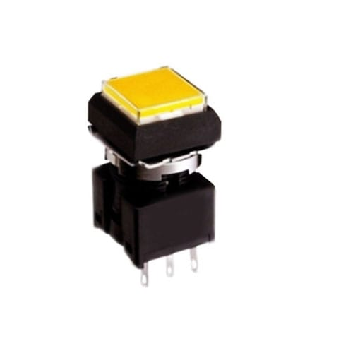 Sqaure, Momentary Pushbutton Switch or Latching Pushbutton Switch, plastic, push button switch with LED illumination, panel mount, RJS Electronics Ltd.
