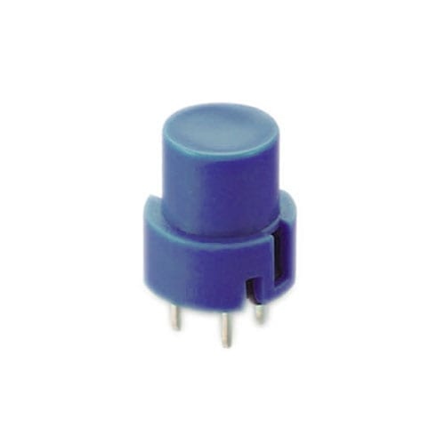 KS01-B-BLUE - PCB, Push button switch, non-illuminated Tact Switch, momentary with push button feature, silent click, click sound. RJS Electronics Ltd.