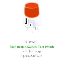 PCB, Panel Mount, KS01-BL SWITCH with LED illumination, Single colour, BI-COLOUR, RGB LED ILLUMINATION, - RJS ELECTRONICS LTD