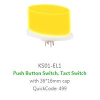 PCB Panel Mount, KS01-EL SWITCH LED illumination, Single, BI-COLOUR, RGB LED ILLUMINATION, colour - RJS ELECTRONICS LTD