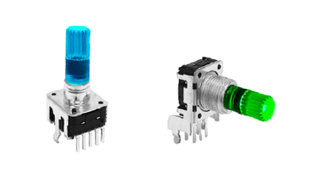 LED encoders, right angle and vertical, rjs electronics ltd
